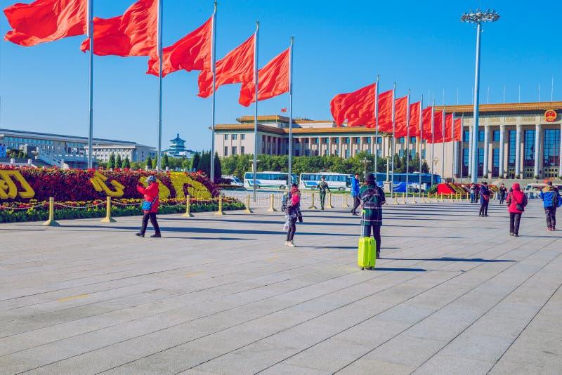 Place Tiananmen, Chine, automne 2016 Photo de voyage photos stock