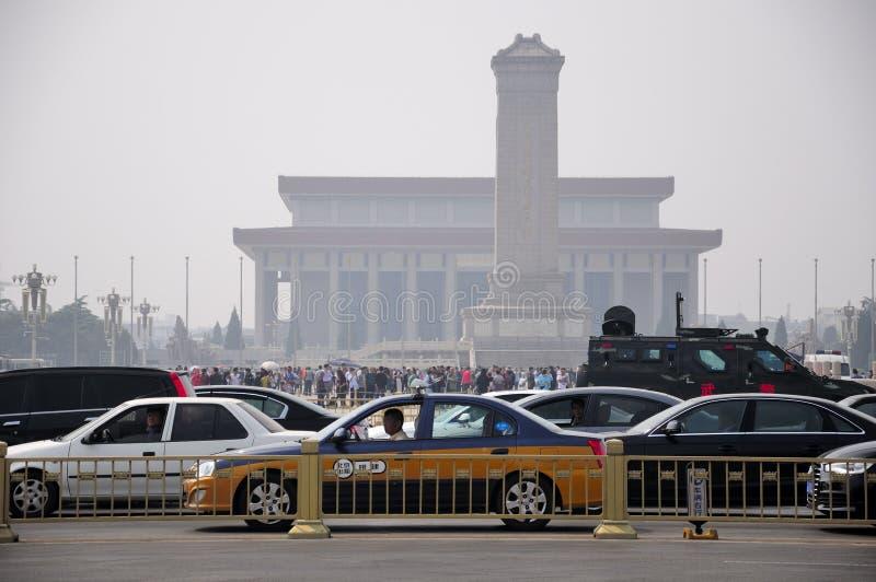 Place Tiananmen Pékin le 27 septembre 2010 rentré par Chine photographie stock libre de droits