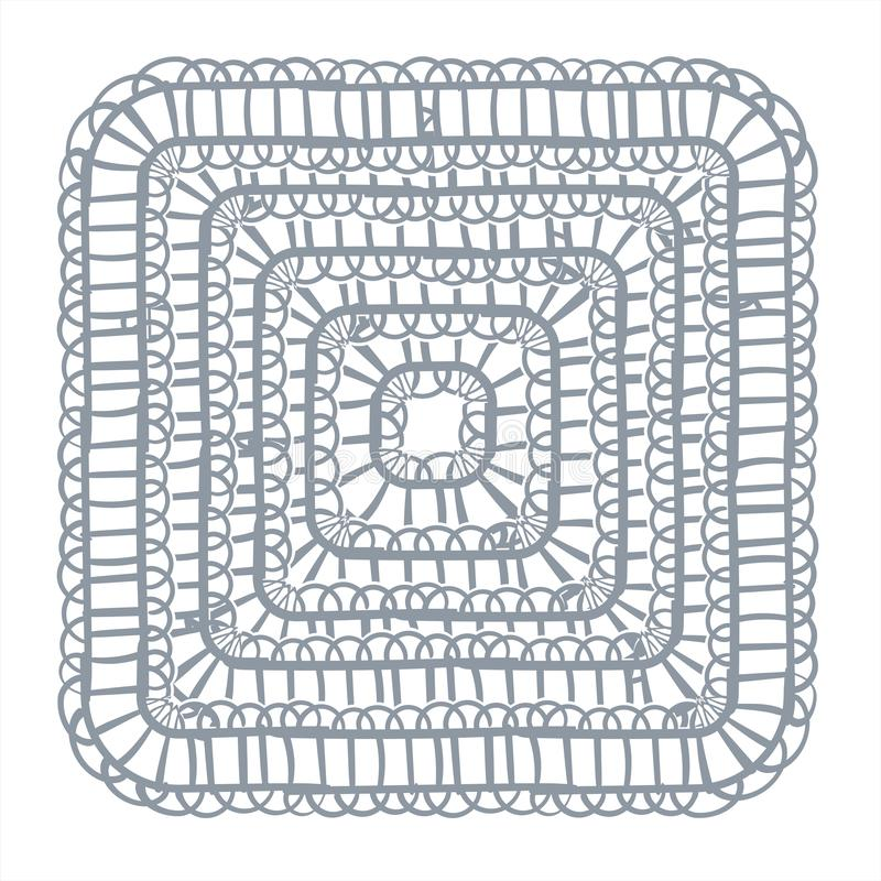 Place tir?e par la main de conception de vecteur de cadre de dentelle de fond d?coratif d'?l?ment illustration de vecteur