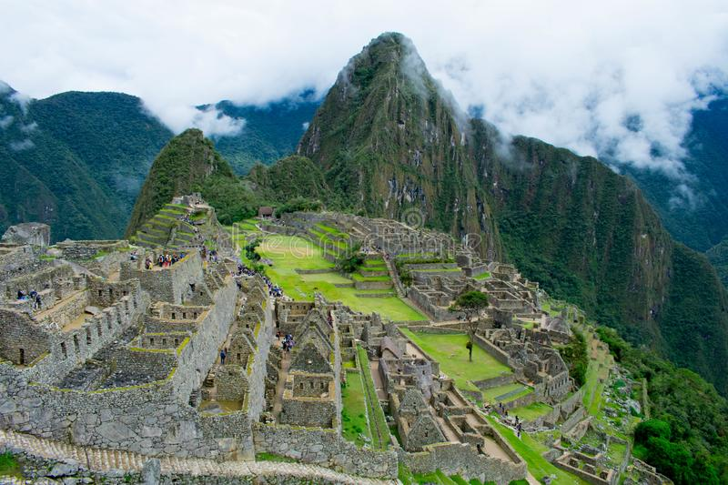 Lost city of the Incas, Machu Pichu, Peru, 02/08/2019 royalty free stock images