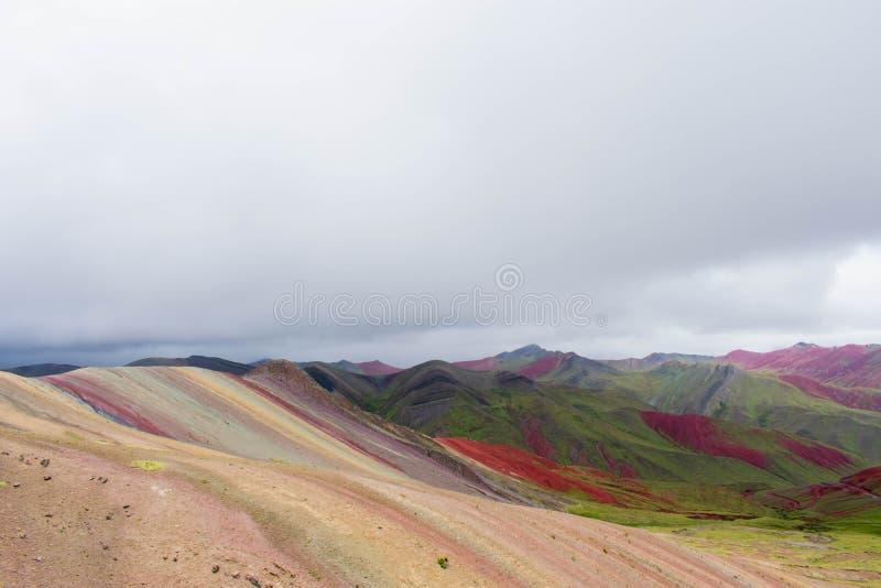Vinicunca, Rainbow Mountain, Peru, 02/09/2019 stock image