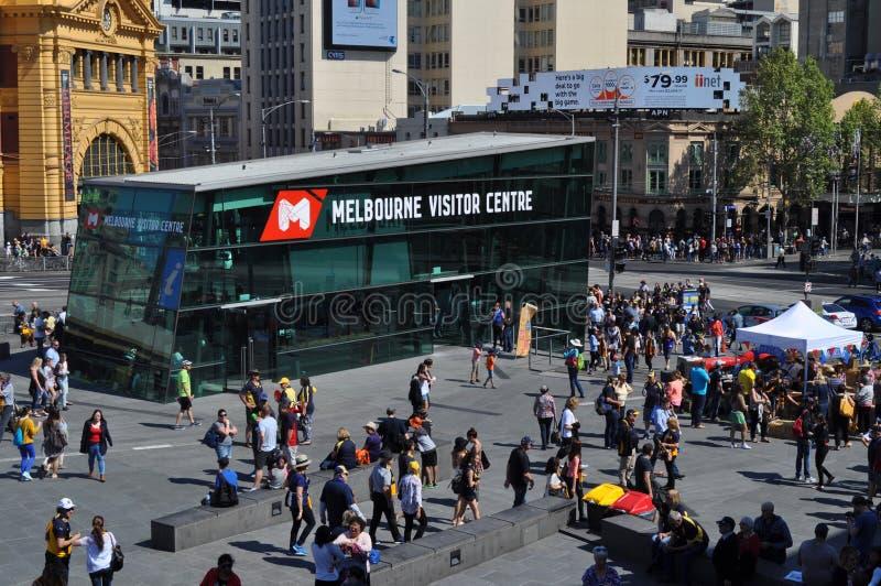 Place Victoria Australia de fédération de centre de visiteurs de Melbourne photo libre de droits
