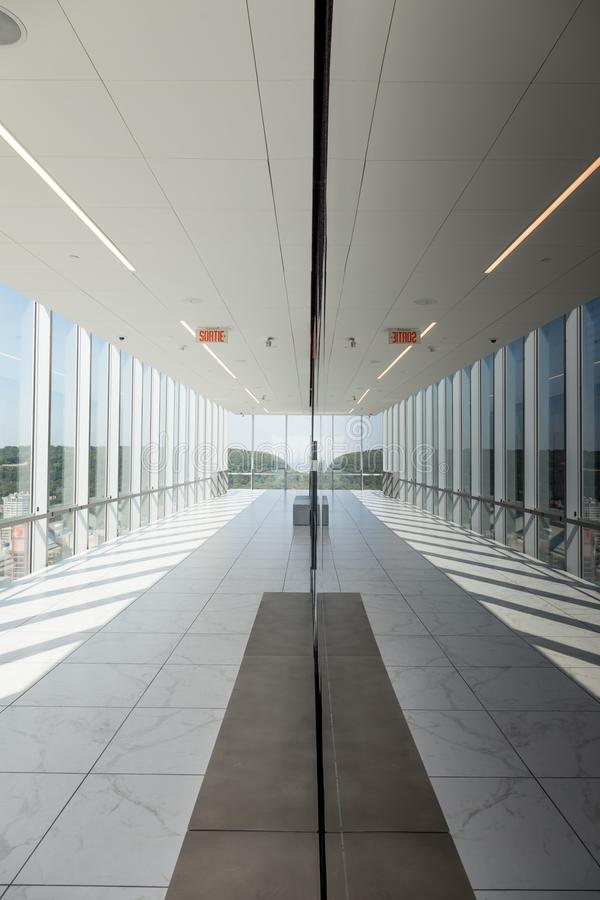 Place Ville Marie observation deck in Montreal stock image