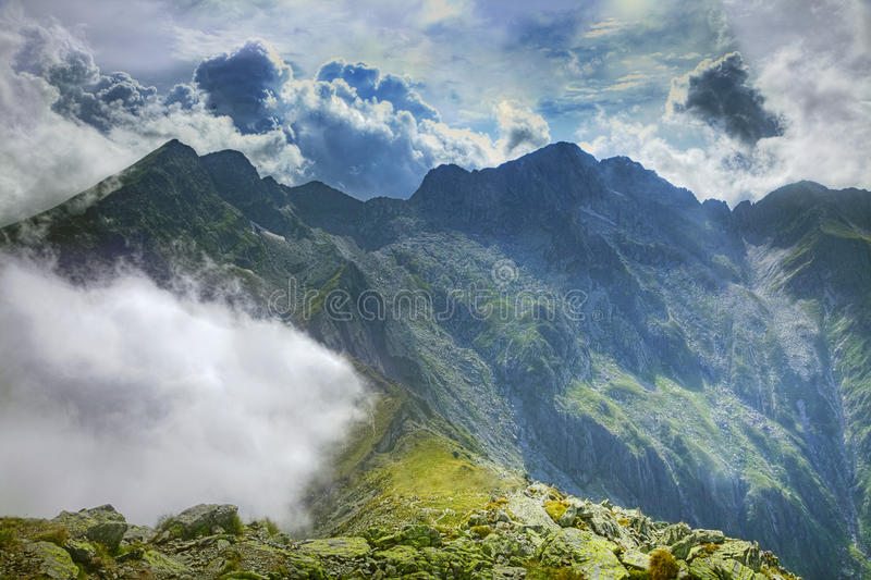 The Place Where The Clouds Turn Back Royalty Free Stock Photos