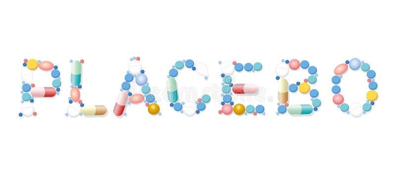 Placebo Pills Medicine Word stock illustration
