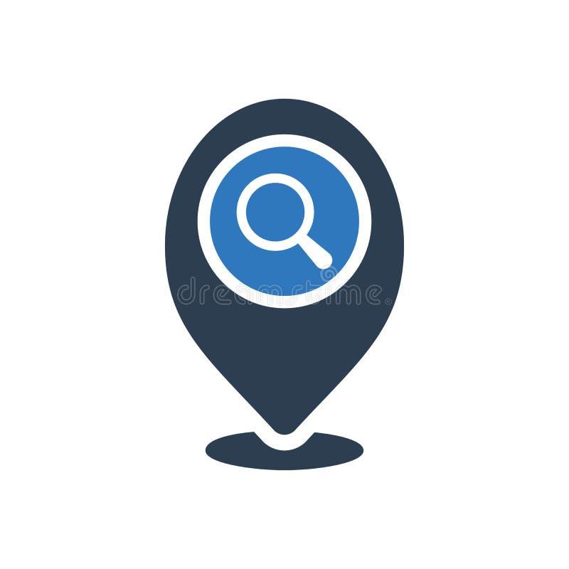 Placeholder ikona, znak ikona z badanie znakiem Placeholder ikona i bada, znajduje, sprawdza, symbol ilustracja wektor