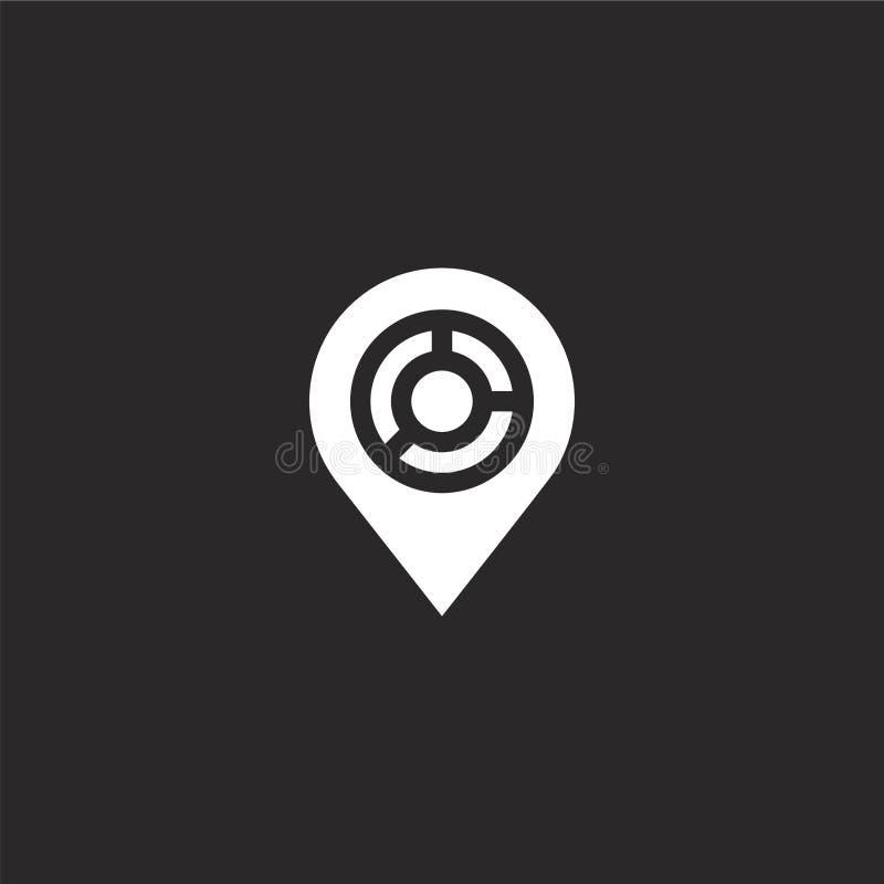 Placeholder pictogram Gevuld placeholder pictogram voor websiteontwerp en mobiel, app ontwikkeling placeholder pictogram van gevu vector illustratie
