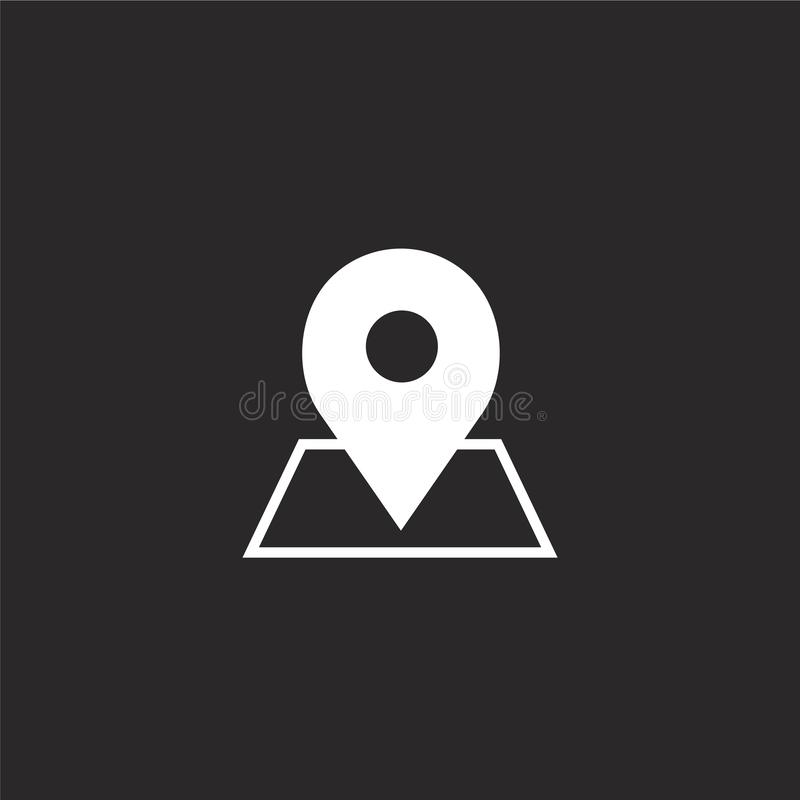 Placeholder pictogram Gevuld placeholder pictogram voor websiteontwerp en mobiel, app ontwikkeling placeholder pictogram van gevu royalty-vrije illustratie