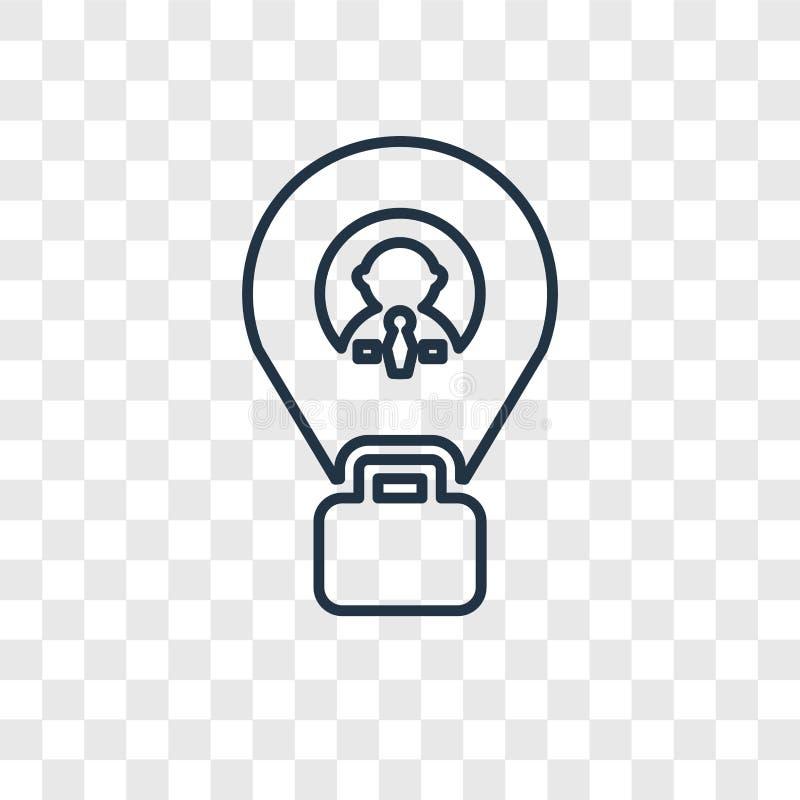 Placeholder pojęcia wektorowa liniowa ikona odizolowywająca na przejrzysty b ilustracji