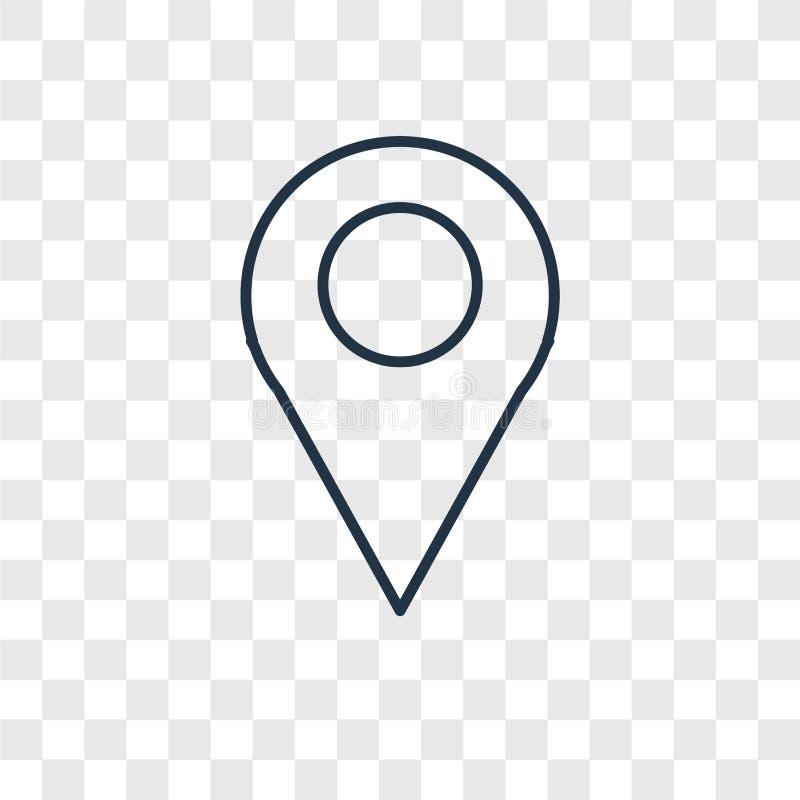 Placeholder pojęcia wektorowa liniowa ikona odizolowywająca na przejrzysty b ilustracja wektor