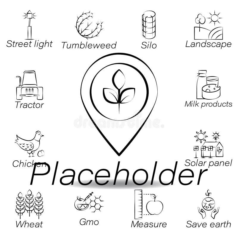 Placeholder r?ki remisu ikona Element uprawia? ziemi? ilustracyjne ikony Znaki i symbole mog? u?ywa? dla sieci, logo, mobilny app royalty ilustracja