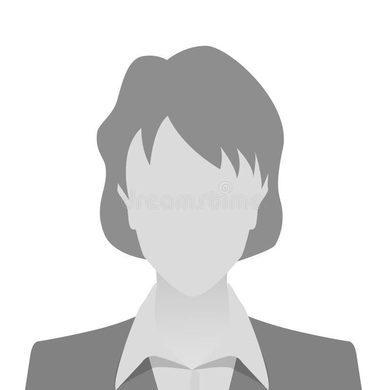 Placeholder van de persoons grijze foto vrouw stock illustratie