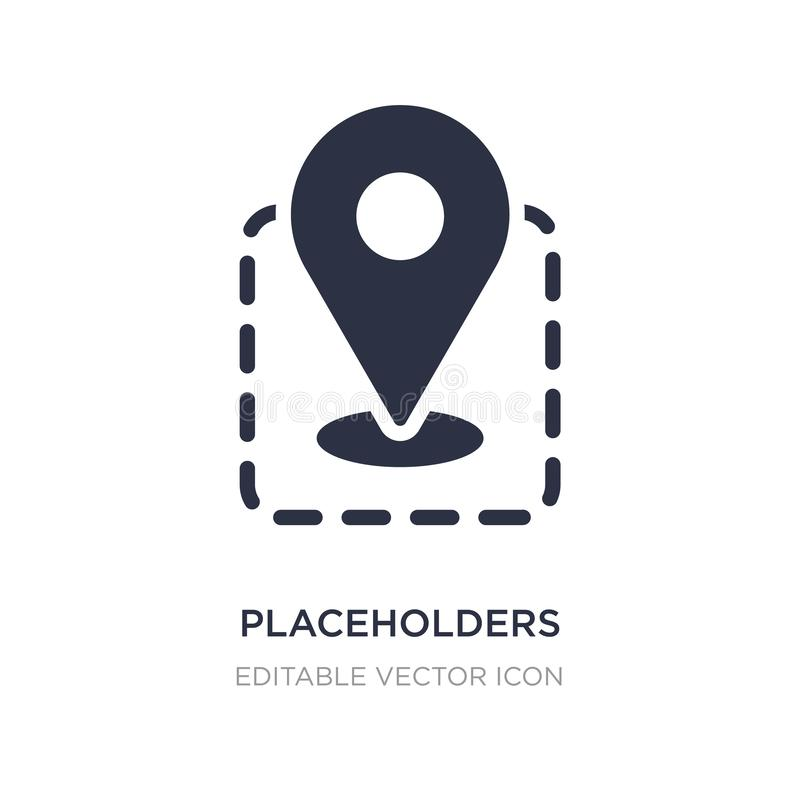placeholders icon on white background. Simple element illustration from Signs concept stock illustration