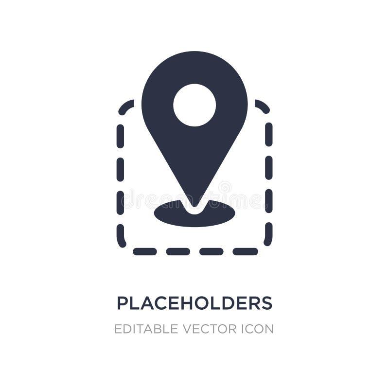 placeholderssymbol på vit bakgrund Enkel beståndsdelillustration från teckenbegrepp stock illustrationer