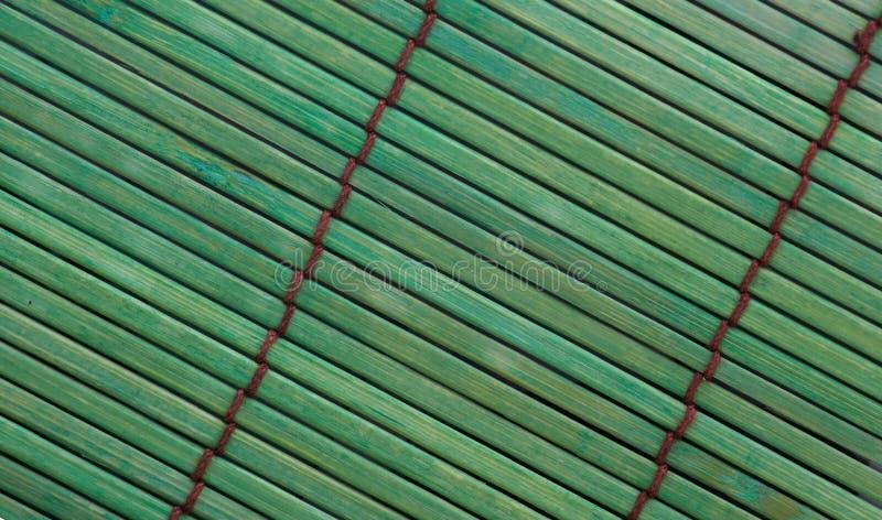 Placemat en bambou vert image libre de droits
