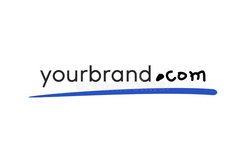 Placement peu précis pour ajouter votre adresse de site Web à l'identification de brochure, de couverture, d'affaires, etc. illustration stock