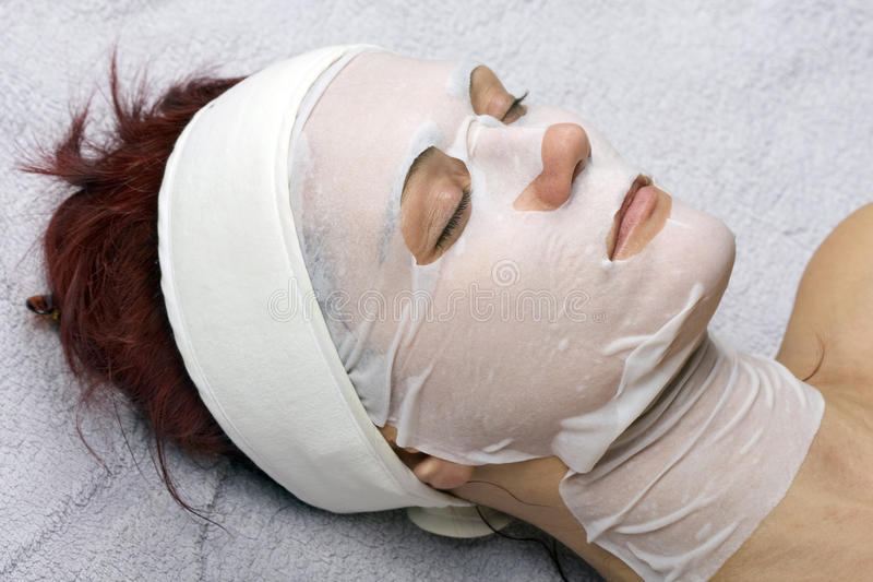 Placenta-collagen mask royalty free stock image