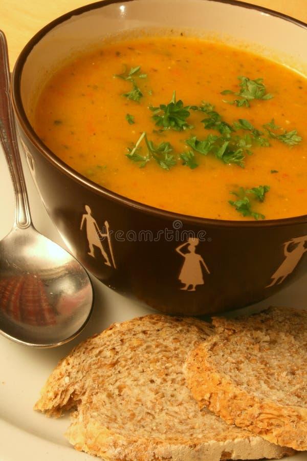 Placer de la sopa imagenes de archivo