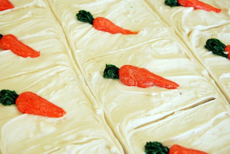 Placer de la torta de zanahoria foto de archivo