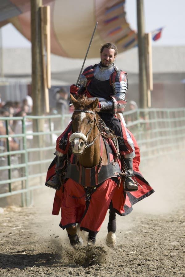 Placer Faire - caballeros a caballo 1 del renacimiento imagenes de archivo