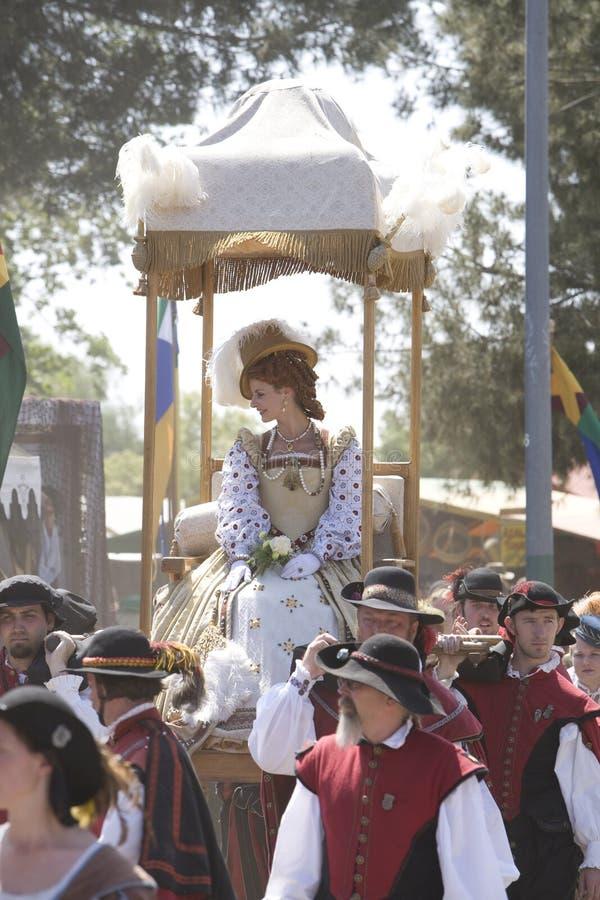 Placer Faire - procesión 2 del renacimiento de la reina fotos de archivo libres de regalías