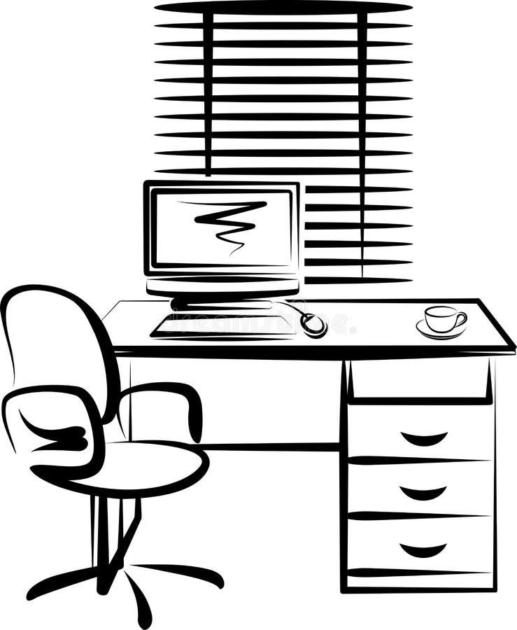 placera arbete stock illustrationer
