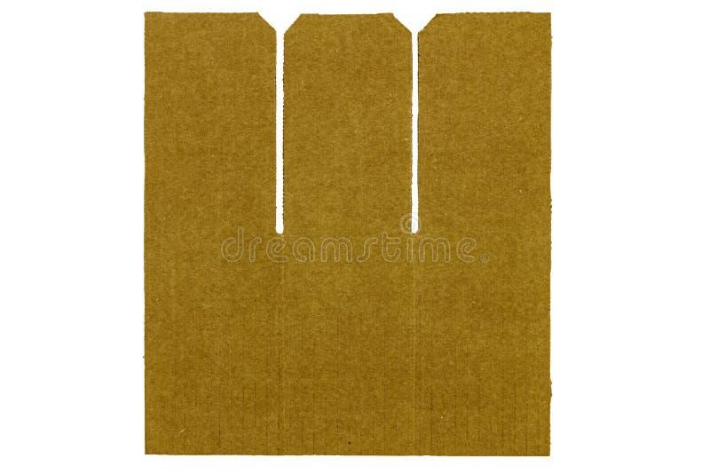 Placerade pappkanter isolerade bakgrund royaltyfri bild
