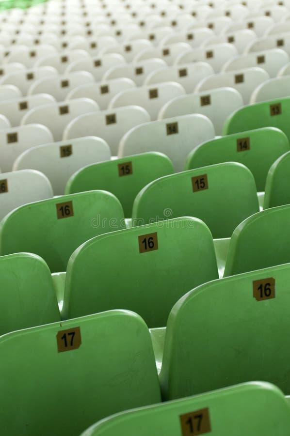 placerar den tomma stadionen arkivbilder