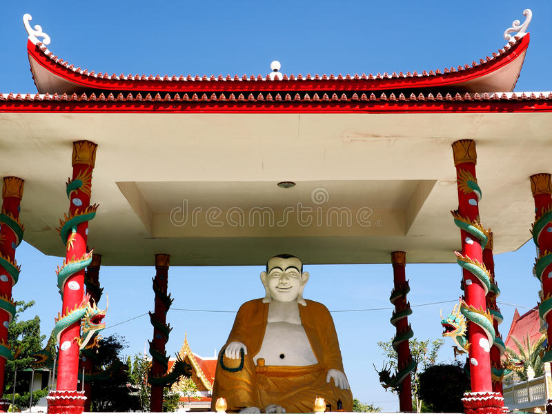 Placerat skratta Buddha arkivbild
