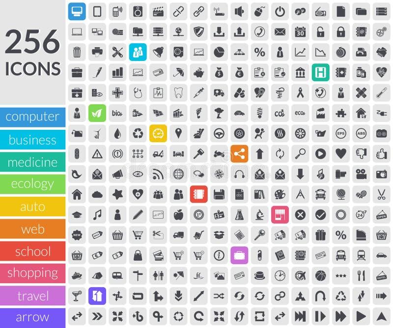 Places arrondies par intérieur d'icônes illustration de vecteur