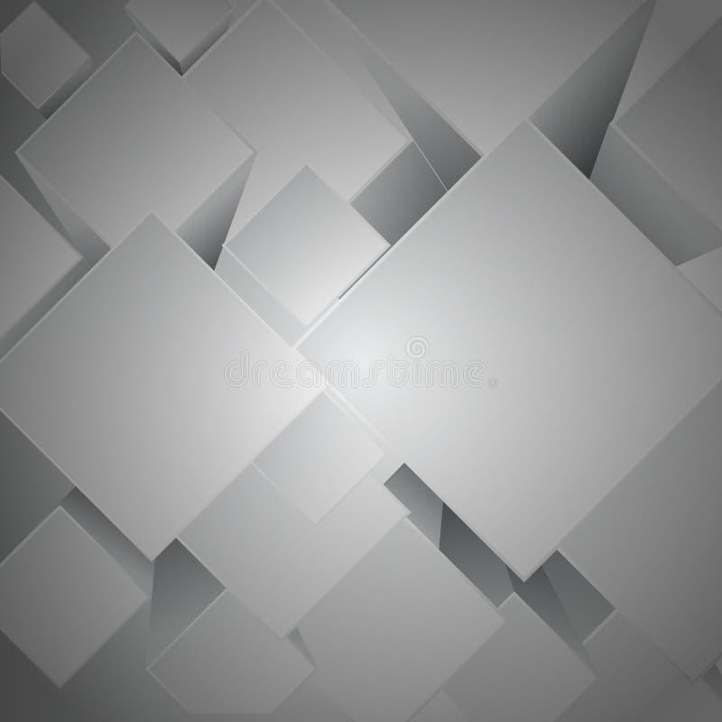 Places avec des ombres de baisse dans des couleurs grises illustration libre de droits