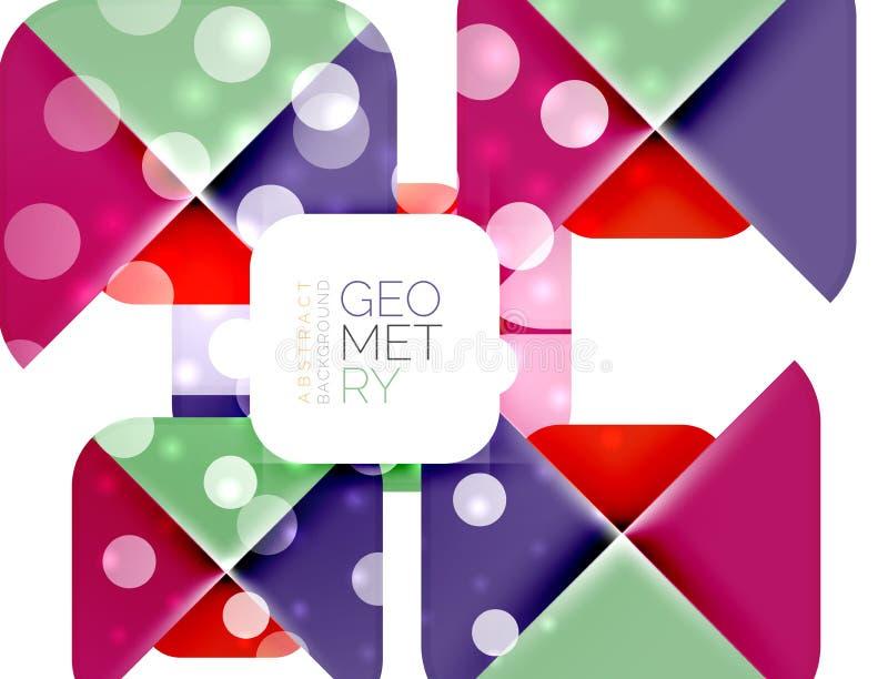 Places colorées, éléments géométriques illustration stock