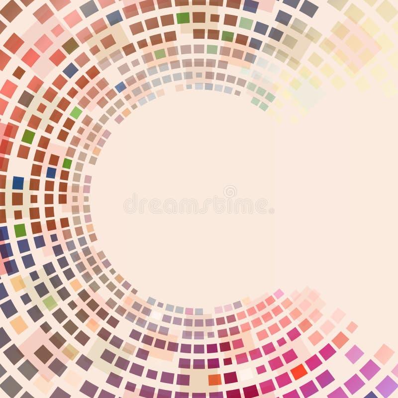 Places colorées circulaires illustration libre de droits