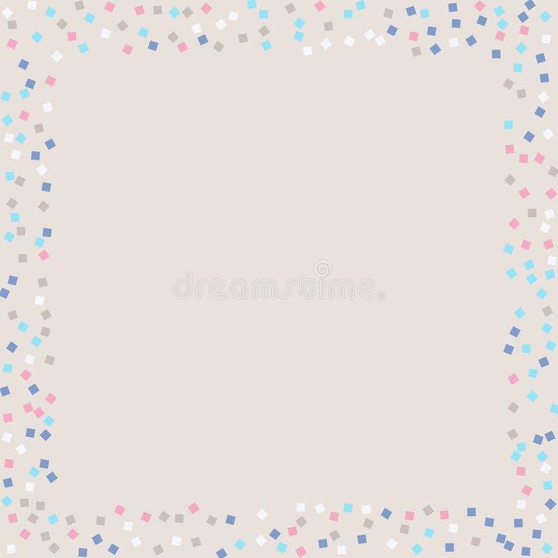 Places colorées de confettis illustration de vecteur