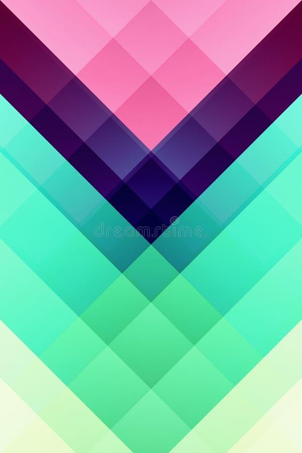 Places colorées et modèle de V illustration de vecteur