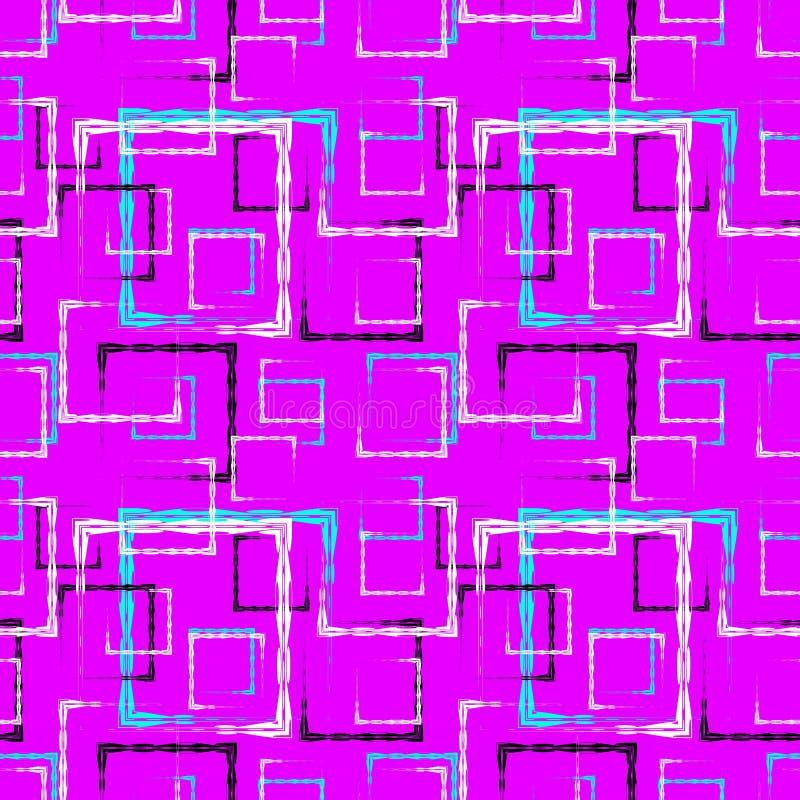 Places découpées blanches et bleues et cadres noirs pour un fond ou un modèle abstrait de myrtille illustration de vecteur