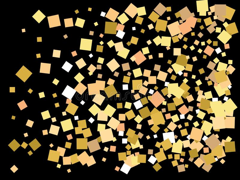 Places d'or en baisse de couleur illustration libre de droits