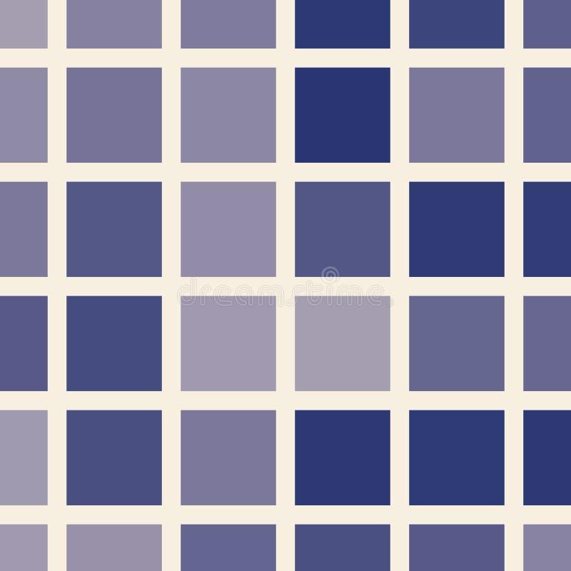 Places dans les tonalités du modèle sans couture bleu illustration stock