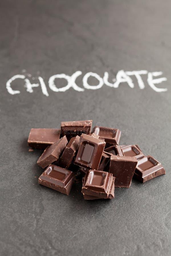 Places de chocolat images libres de droits