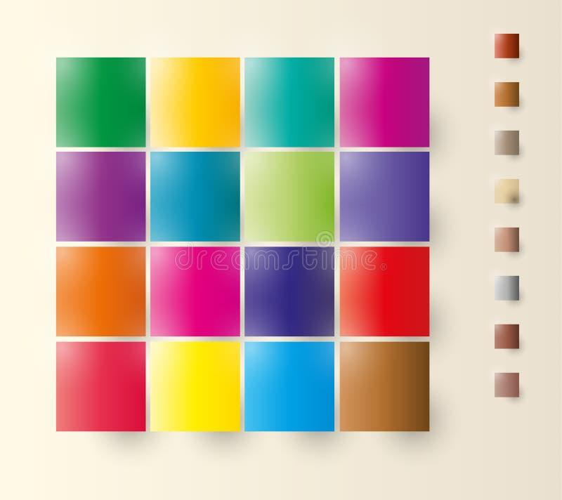 Places de couleur illustration de vecteur