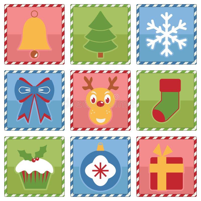 Places de Noël illustration stock
