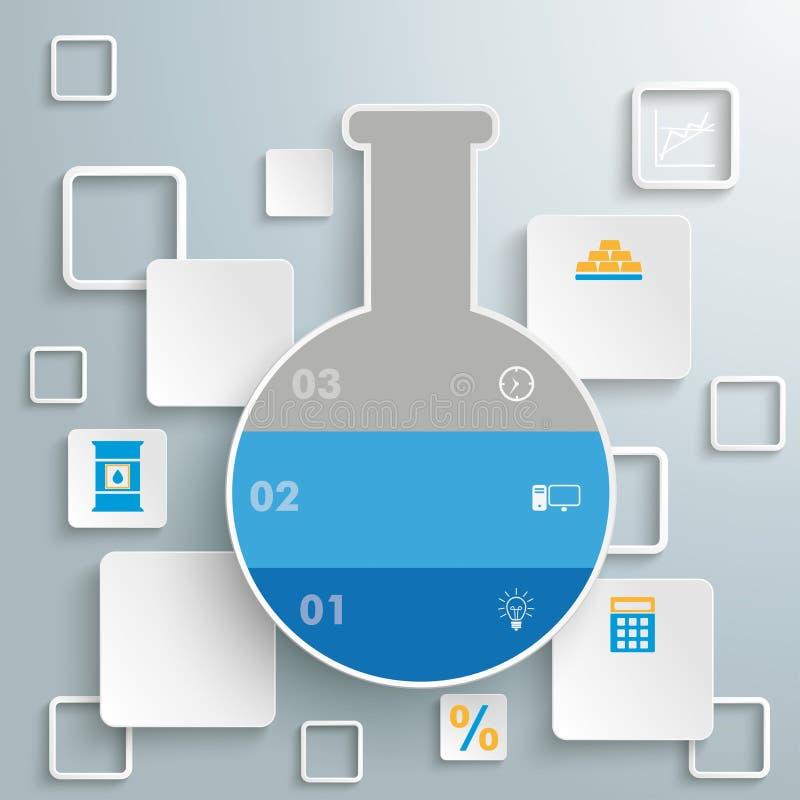 Places de tube de laboratoire Infographic illustration de vecteur