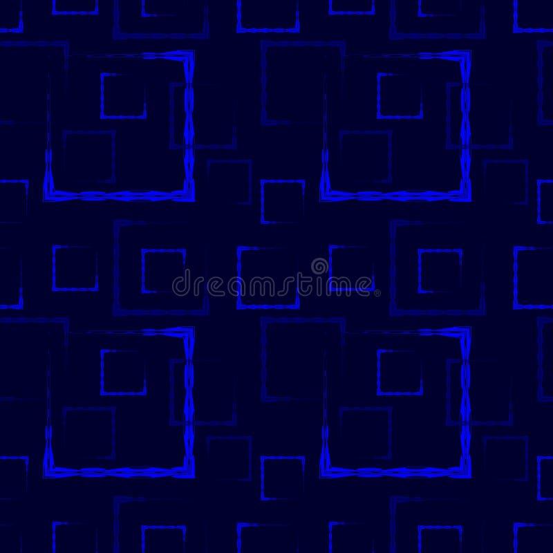 Places et cadres découpés bleus pour un fond ou un modèle marin abstrait illustration libre de droits
