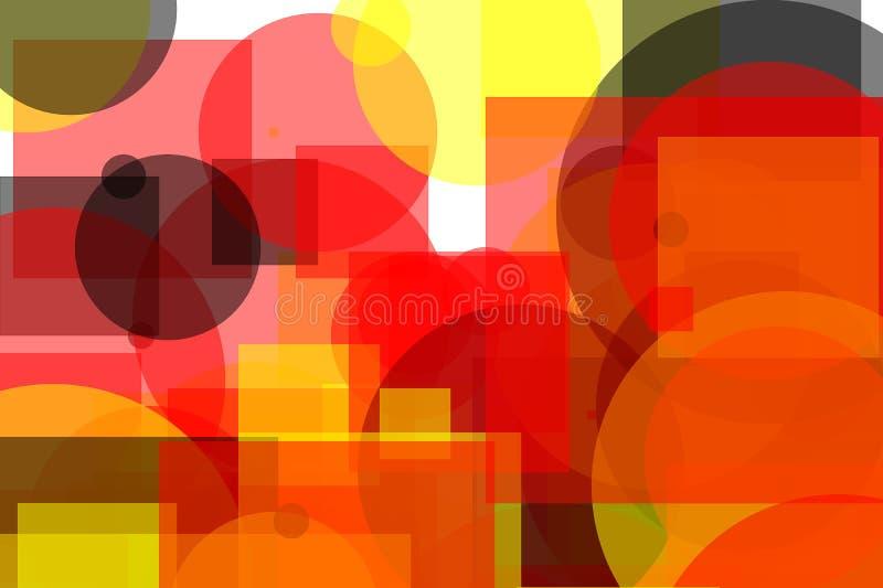 Places et fond gris rouges jaunes abstraits d'illustration de cercles illustration stock