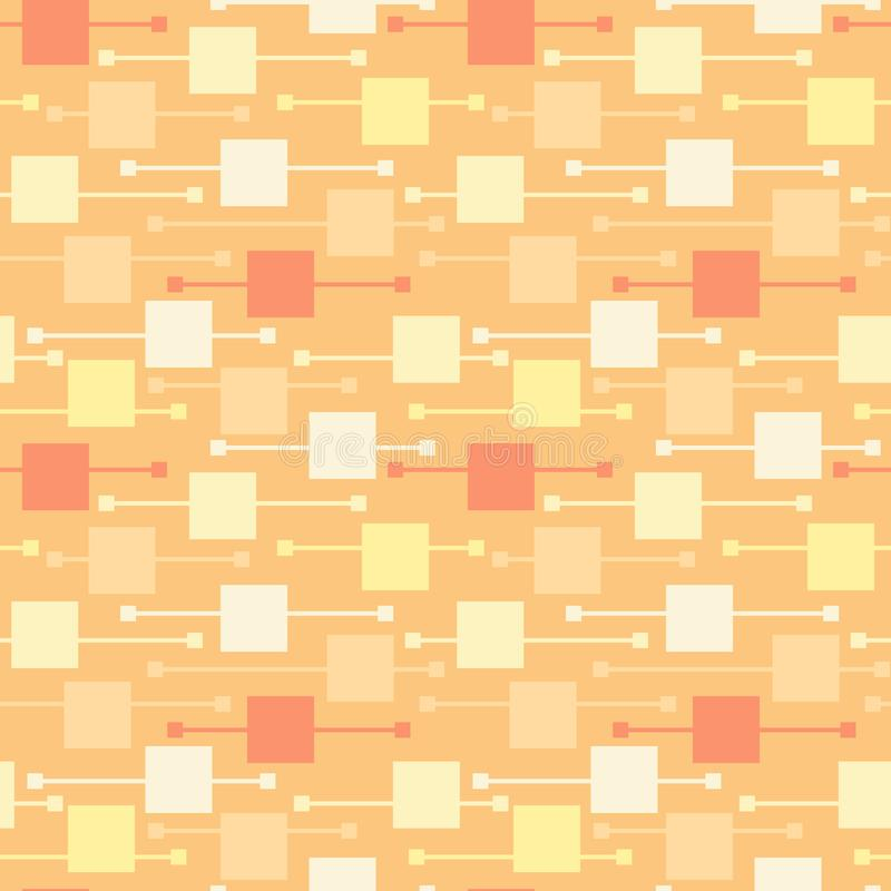 Places et lignes multicolores géométriques simples sur le fond clair Mod?les sans couture de vecteur lumineux de r?sum? pour le t illustration libre de droits