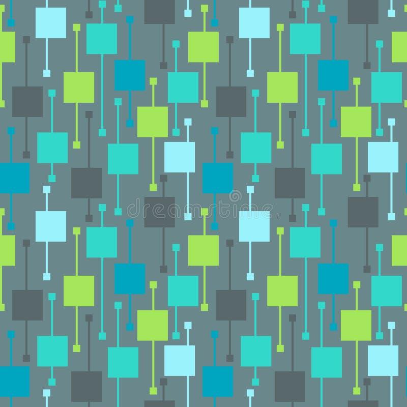 Places et lignes multicolores g?om?triques simples sur le fond clair Modèles sans couture de vecteur froid de résumé pour le text illustration stock