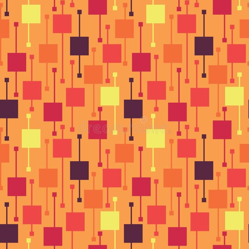Places et lignes vives multicolores géométriques simples sur le fond clair Modèles sans couture de vecteur lumineux de résumé pou illustration de vecteur