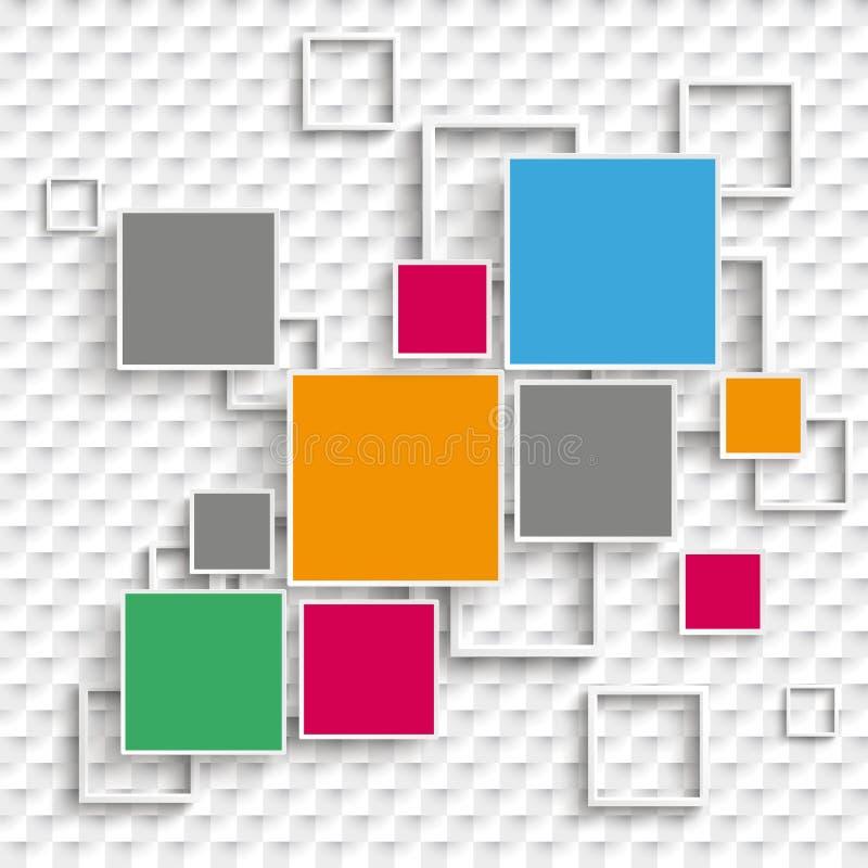 Places et options de la conception 5 de cadres à carreaux illustration de vecteur
