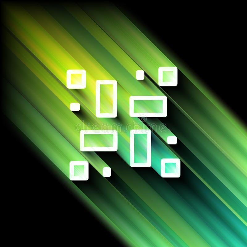 Places et rectangles au néon illustration stock