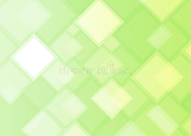 Places et rectangles géométriques abstraits à l'arrière-plan vert clair illustration libre de droits